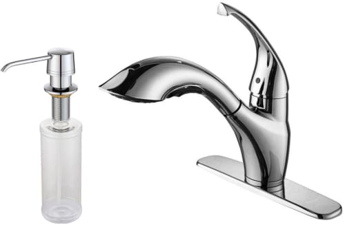 Kraus Kitchen Faucet Series KPF2210KSD30CH - Chrome Faucet and Soap Dispenser