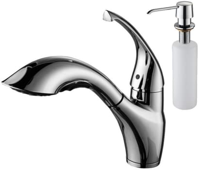 Kraus Kitchen Combo Series KBU24KPF2210KSD30CH - Close-up View of Faucet