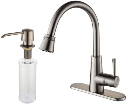 Kraus KPF2220KSD30SN - Satin Nickel Faucet and Soap Dispenser