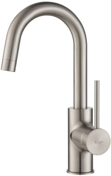 "Kraus Oletto Series KPF2600SS - Single Lever Kitchen Faucet with 5 1/2"" Spout Reach"