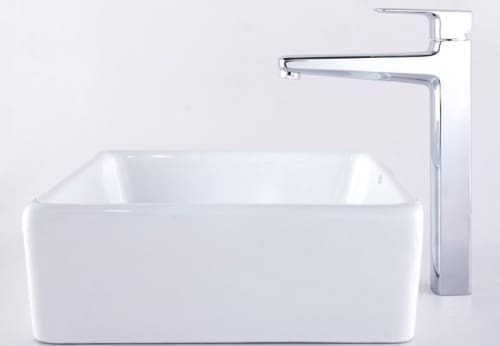 Kraus Virtus Series CKCV12015500CH - Square Ceramic Sink