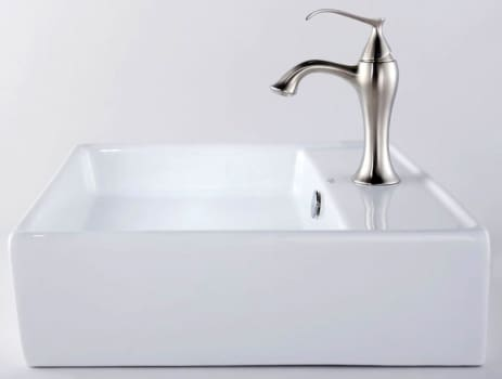 Kraus Ventus Series CKCV15015001BN - White Ceramic Sink with Ventus Faucet