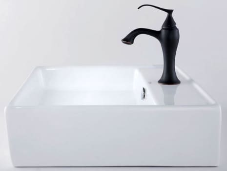 Kraus Ventus Series CKCV15015001ORB - White Ceramic Sink with Ventus Faucet