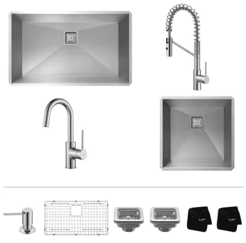 Kraus Mateo Series KHU3219263000CH - Chrome Set