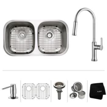 Kraus Nola Series KBU22163042 - Stainless Steel Set