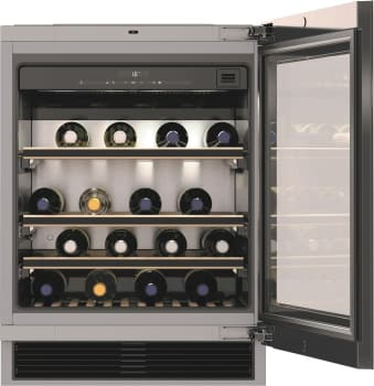 "Miele KWT6312UGS - 24"" Undercounter Wine Storage with 46-Bottle Capacity"