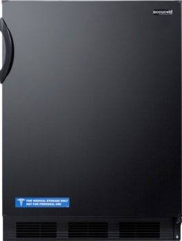 "AccuCold CT66BBI1ADA - 24"" Built-in ADA-Compliant Compact Refrigerator in Black"