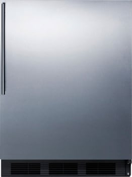 "AccuCold CT66BBISSHVADA - 24"" Built-in ADA-Compliant Compact Refrigerator with Stainless Steel Door and Vertical Handle"