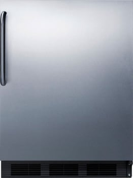 "AccuCold CT66BBISSTBADA - 24"" Built-in ADA-Compliant Compact Refrigerator with Stainless Steel Door and Towel Bar Handle"