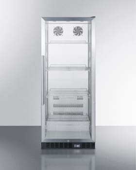 """Summit SCR1156CSS - 24"""" Freestanding Commercial Refrigerator with 11.0 cu. ft"""