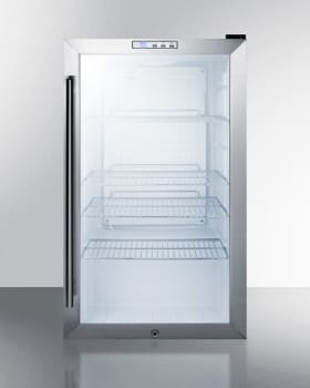 "Summit Commercial Series SCR486LCSS - 19"" Commercial Beverage Center with 3.35 cu. ft. Capacity - Front View"