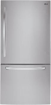 LG LDC24370ST - 33 Inch Bottom-Freezer LG Refrigerator