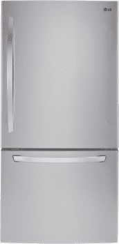 "LG LDCS22220S - 30"" Bottom Freezer Refrigerator with 22 cu. ft. Capacity"