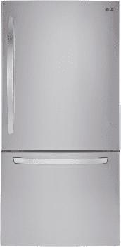 "LG LDCS22220 - 30"" Bottom Freezer Refrigerator with 22 cu. ft. Capacity"