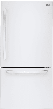 "LG LDCS22220W - 30"" Bottom Freezer Refrigerator with 22 cu. ft. Capacity"
