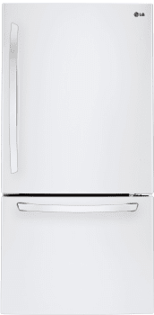 LG LDCS24223W - 33 Inch Bottom-Freezer LG Refrigerator