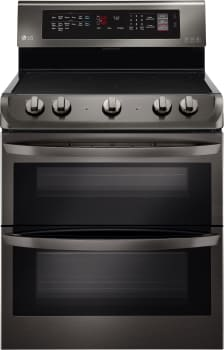 LG LDE4413BD - High-Capacity Freestanding Electric Double Oven Range in Black Stainless Steel