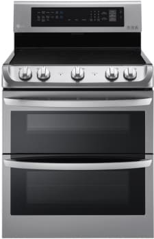 LG LDE4413ST - High-Capacity Freestanding Electric Double Oven Range