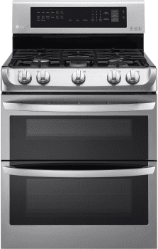 LG LDG4313STX - 6.9 cu. ft. Freestanding Double Gas Range