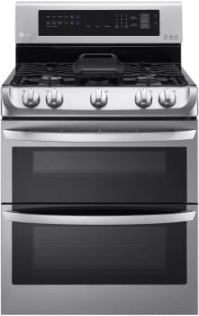 LG LDG4315ST - 6.9 cu. ft. Gas Double Oven Range with ProBake Convection