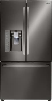 LG LFXC24726 - Counter Depth French Door Refrigerator from LG in Black Stainless Steel
