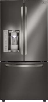 LG LFXS24623 - 33 Inch French Door Refrigerator from LG in Black Stainless Steel