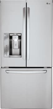 LG LFXS24623S - 33 Inch French Door Refrigerator from LG in Stainless Steel