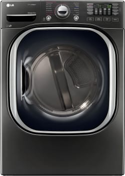 LG SteamDryer Series DLEX4370K - Super Capacity TurboSteam Dryer from LG