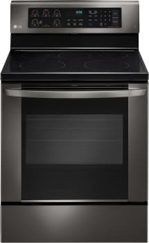 LG LRE3061BD - LG LRE3061 Freestanding Electric Range Oven with Convection - Black Stainless Steel