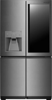 LG Signature Series LUPXS3186N - LG's Diffused Reflection Stainless Steel French-Door Refrigerator with Door-in-Door