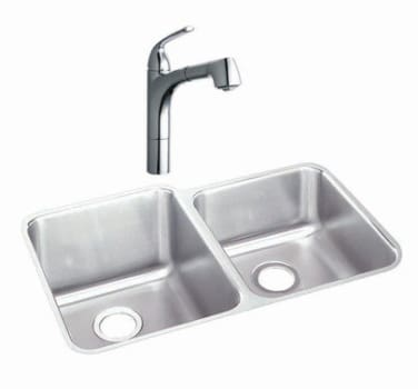 Elkay Gourmet Collection LKGTPKG2CR - Featured View with Chrome Faucet