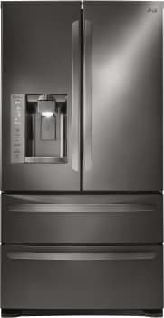 LG LMXS27626 - 27 cu. ft. French Door Refrigerator with Double Freezer Drawers - Black Stainless Steel