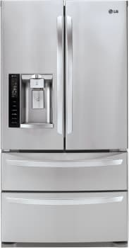 LG LMXS27626S - 27 cu. ft. French Door Refrigerator with Double Freezer Drawers - Stainless Steel