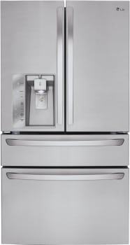 LG LMXS30746S - LG French Door Refrigerator with CustomChill Drawer and Dispenser