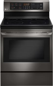 "LG LRE3083BD - 30"" Freestanding Smoothtop Electric Range with 5 Radiant Elements"