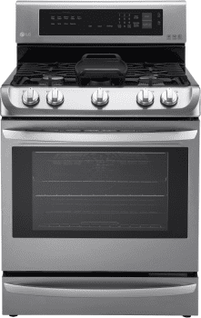 LG LRG4115ST - 6.3 cu. ft. Gas Range with ProBake Convection, EasyClean and Warming Drawer