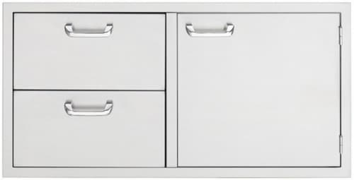 Lynx Sedona Series LSA742 - 24 Inch Storage Door and Double Drawer Combo