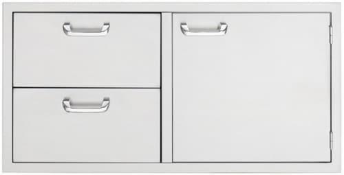 Lynx Sedona Series LSA742 - 24 Inch Storage Door and Double Drawer Combo