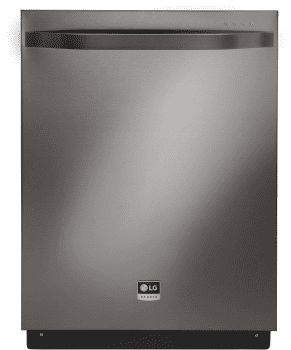 LG Studio LSDF9969BD - Black Stainless Steel Front View