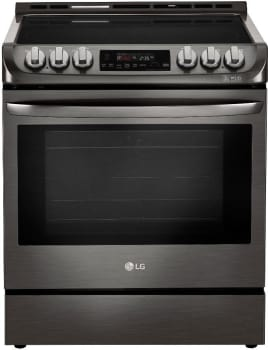 LG LSE4611 - Slide-In Electric Range from LG in Black Stainless Steel