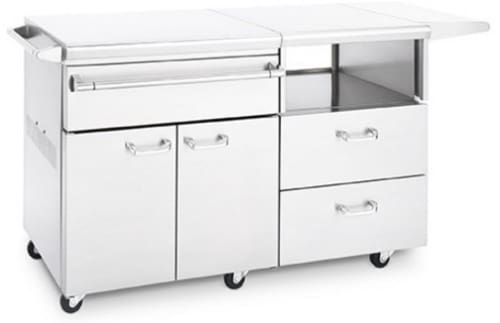 Lynx Lservem Serve And Prep Countertop On Mobile Kitchen Cart