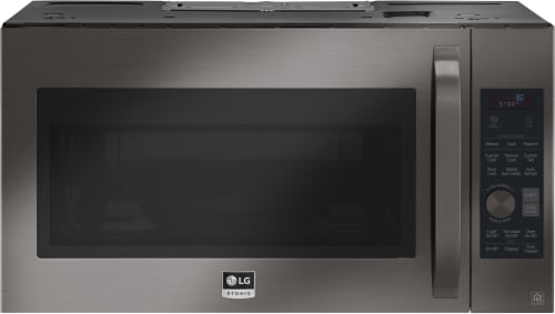 LG Studio LSMC3089BD - Black Stainless Steel Front View