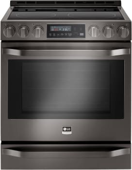 LG Studio LSSE3029BD - Black Stainless Steel Front View