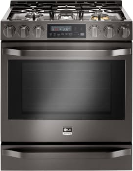 LG Studio LSSG3019BD - Black Stainless Steel Front View