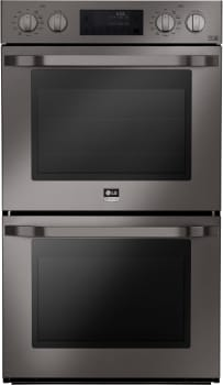 LG Studio LSWD30X - Black Stainless Steel Front View