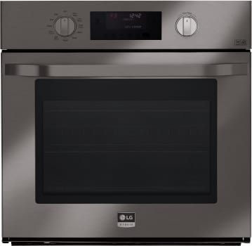 LG Studio LSWS309BD - Black Stainless Steel Front View