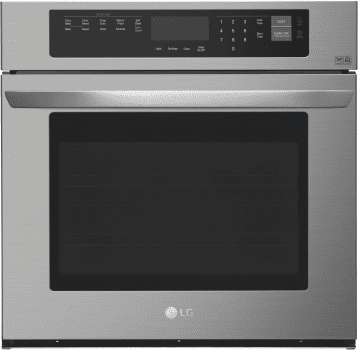 LG LWS3063BD - LG's 30 Inch Electric Wall Oven with NFC Tag On Technology