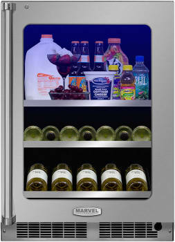 "Marvel Professional Series MP24BCF3RP - 24"" Professional Beverage Center with 2 Full-Width Adjustable Glass Shelves - Featured View"