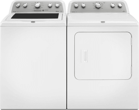 Maytag Mawadrgw41 Side By Side Washer Dryer Set With Top Load Washer And Gas Dryer In White