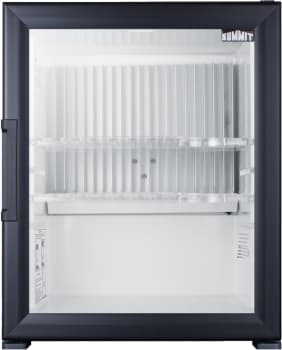 "Summit MBH32GL - 17"" Glass Door Minibar Refrigerator for Hotels and Suites"